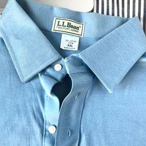 VTG 70s LL Bean Polo Made US Blue XXL one stitch